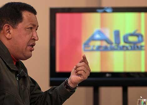 Chávez, durante su intervención en 'Aló presidente'. (Foto: EFE)