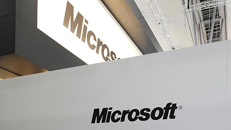 Detalle del 'stand' de Microsoft en CeBIT. | AFP