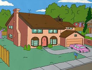La casa de 'Los Simpsons'.