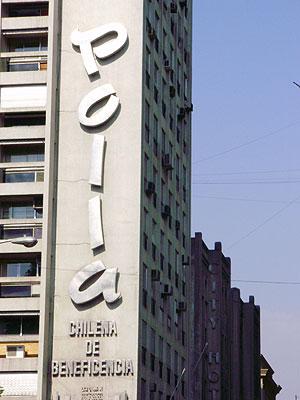 Edificio de La Polla Chilena de Beneficencia. (Foto: W. F.)
