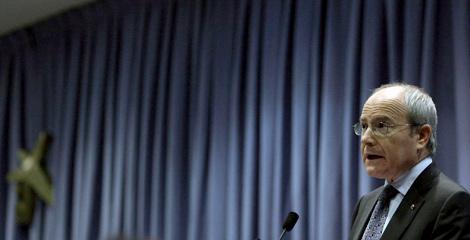 Montilla, durante su intervención en la conferencia. | EFE