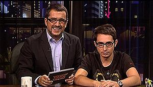 Berto (dcha.) y Buenafuente, en el programa de este último.
