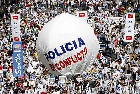 Manifestación de policías en Madrid. | Alberto di Lolli