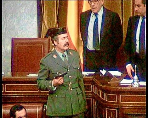 Tejero, durante el golpe de Estado, en una foto de archivo.