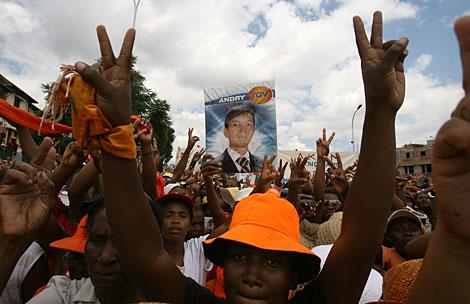 Partidarios de la oposición de Madagascar. | Reuters