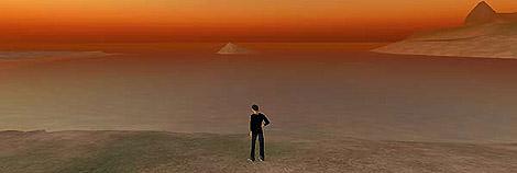 Pantalla de Second Life.