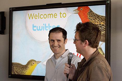 Los fundadores de Twitter (Foto: AFP)