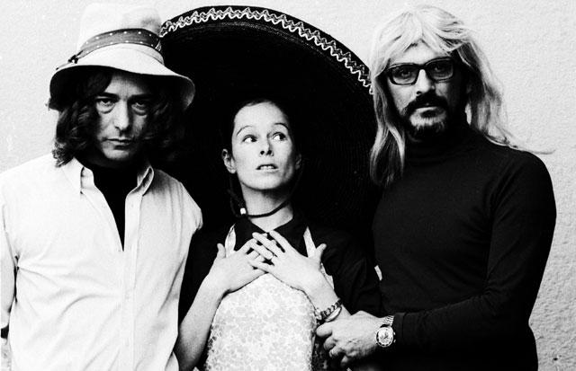 Antonio Saura, Geraldine Chaplin y Carlos Saura. Londres, 1972. VEA MÁS IMÁGENES © Carlos Saura