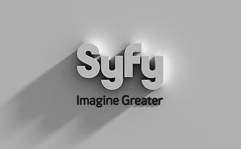 El nuevo logo para el canal de televisión Syfy.