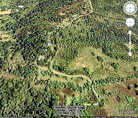 Imagen de Google Earth con las coordenadas remitidas por IU. | Google Earth