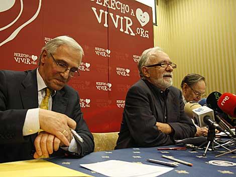 Nicolás Jouve y Francisco Abadía, durante la presentación del Manifiesto, | Sergio González
