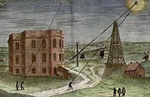 El Observatorio de París y la torre de Marly en 1705.