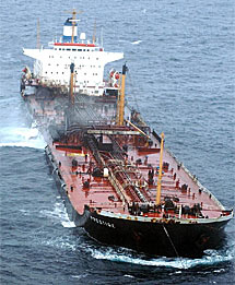 El petrolero 'Prestige'.
