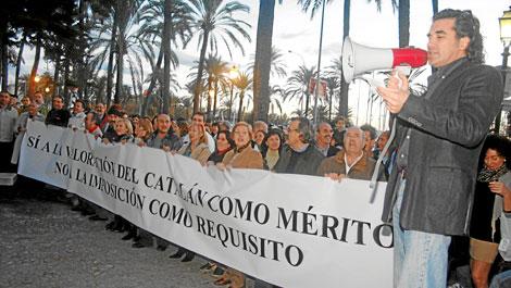 Concentración en noviembre contra la imposición del catalán en la Sanidad. | Alberto Vera