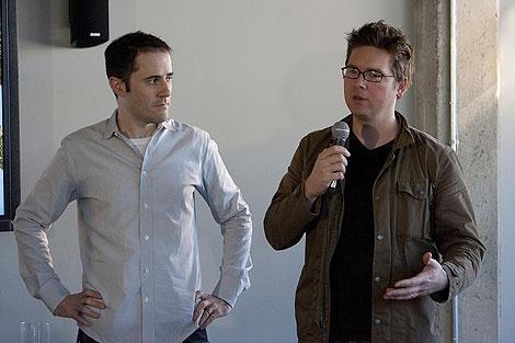 Los fundadores de Twitter, Evan Williams y Biz Stone. (Foto: Afp)