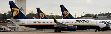 Aviones de Ryanair en el aeropuerto de Girona | Foto: Eddy Kelele