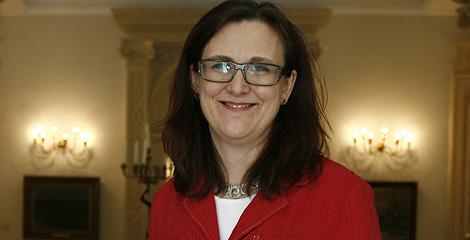 Cecilia Malmström posa antes de la entrevista en Madrid. | Begoña Rivas