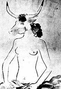 Ilustración de Pruna a un poema de Garcés.