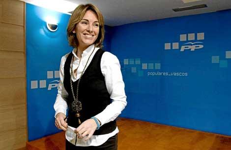 La presidenta del Parlamento Vasco, Arantza Quiroga. | El Mundo