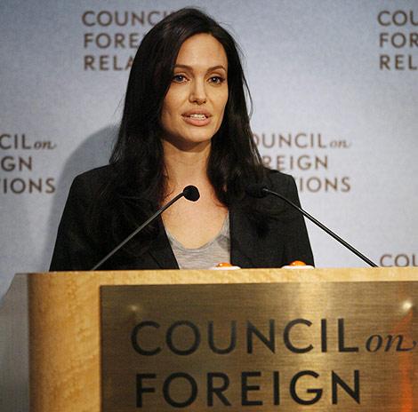 La actriz Angelina Jolie durante una intervención en el Council of Foreign Relations