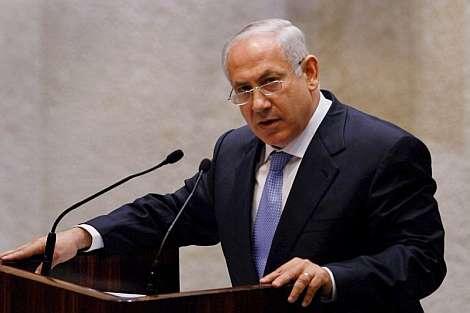 Netanyahu, durante su discurso de investidura. | Efe