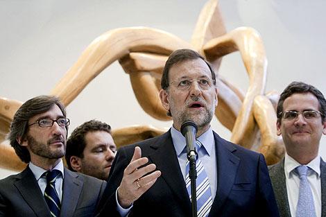 Rajoy, en Vitoria. | Efe