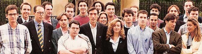 De izquierda a derecha, entre otros, están Antonio Basagoiti, Íñigo Manrique, Miguel Ángel Blanco, Iñaki Oyarzábal, Arantza Quiroga, Cristina Ruiz, Ramón Gómez, Borja Semper y Luis Hermosa.