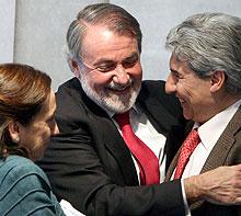 Con Victoria Prego y C. García-Abadillo.