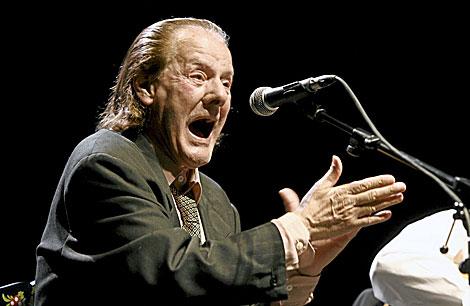El cantaor gaditano fallecido, durante una actuación. | Begoña Rivas