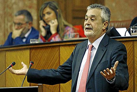 José Antonio Griñán, en una sesión plenaria del Parlamento andaluz. | Fernando Ruso