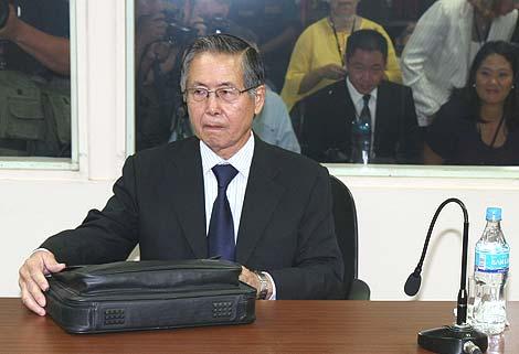 Fujimori, en el tribunal que lo ha declarado culpable. | Efe