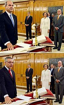 Chaves y Blanco, al prometer el cargo.   Efe