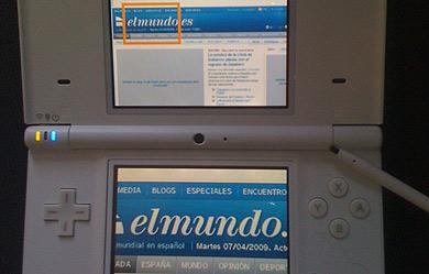 La página de elmundo.es desde el navegador de la DSi