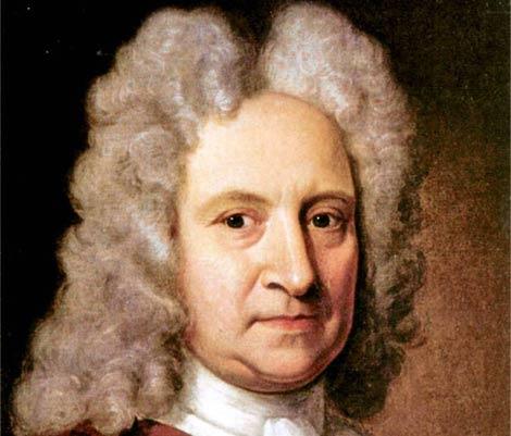 Edmond Halley por Richard Phillips (c. 1720).