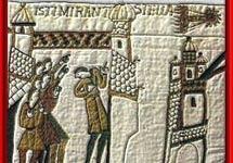 El cometa 'Halley' en el tapiz de Bayeux (1066).