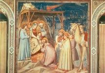 El cometa 'Halley' en la 'Adoración de los Reyes' de Giotto (c. 1301).
