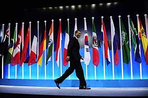 Obama, tras su intervención durante el pasado G20 en Londres (Foto: Reuters).