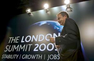 Jose Luis Rodríguez Zapatero momentos antes de la rueda de prensa ofrecida durante la cumbre del G-20 de Londres. | Efe