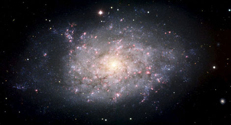 La galaxia espiral NGC 7793, captada por el telescopio VLT del ESO en Chile. | Efe