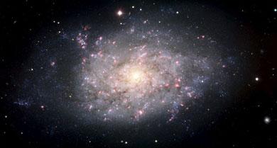 La galaxia espiral NGC 7793, captada por un telescopio del ESO en Chile. | Efe