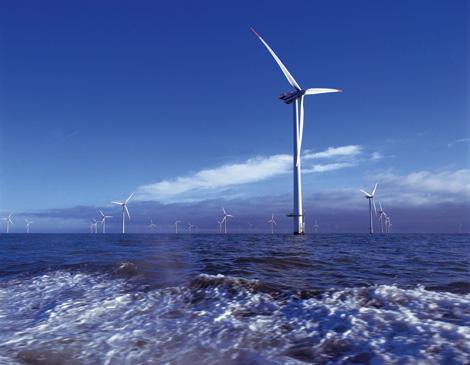 Parque eólico marino en dinamarca. | Cortesía de Vestas Wind Systems A/S