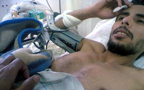 Imagen actual del preso Jalihna Abo Alhasan distribuida por la agencia Sáhara Press