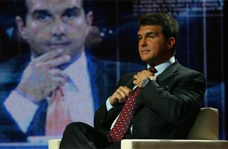 Laporta en una entrevista en TV3. | Antonio Moreno