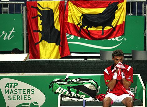 el tenista valenciano Juan Carlos Ferrero en el abierto de Roma | Reuters
