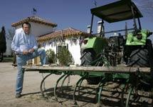 Hugo Vela, productor de fresas ecológicas. | Diego Sinova