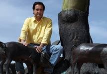 Miguel López, propietario de Ecoibéricos. | F. Ruso