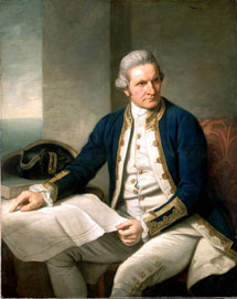 James Cook por Nathaniel Dance (c. 1775)