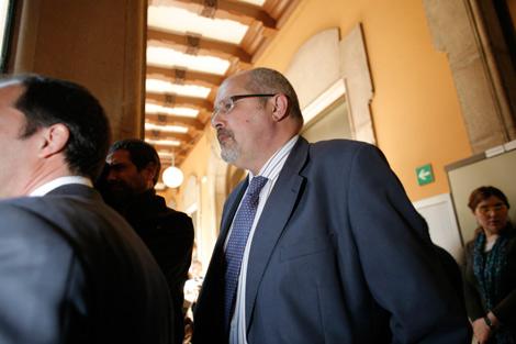 Víctor Manuel Lorenzo Acuña, a su llegada a la lectura de la sentencia. | Santi Cogolludo
