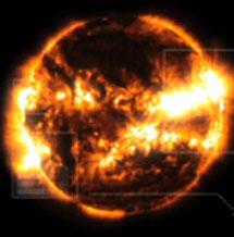 Una tormenta solar. | NASA