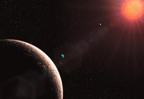 Recreación artística el planeta 'Gliese 481e'. / ESO
